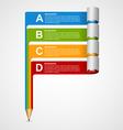 Creative Infographics design template vector image