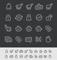 E-Shopping Icons vector image