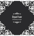Filigree square frame vector image