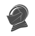 head of a knight in armor vector image
