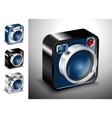 icon button camera photo lens multimedia vector image