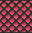 midnight red flowers seamless background vector image