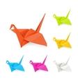 Origami cranes vector image