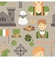 Travel to Ireland pattern vector image