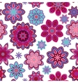 Seamless flower retro pattern in  Purple vector image