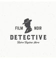 Film Noir Detective Abstract Vintage Emblem vector image