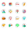 Infographic design icons set vector image