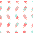 Seamless Ice Cream Pattern vector image vector image