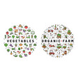 agriculture farming and vegetables flat vector image