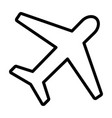 airplane line icon plane symbol outline style vector image