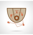 Basketball training flat color design icon vector image