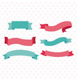cute ribbon banners vector image