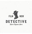 Film Noir Detective Abstract Vintage Emblem vector image