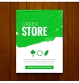 Green eco flyer design tamplate mockup Cover vector image