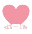heart pink love icon vector image