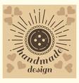 love handmade design grunge vintage poster vector image
