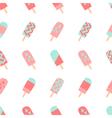 Seamless Ice Cream Pattern vector image