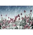 Tulip Vintage Background vector image