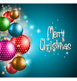 Merry Christmas flyer with glitter background vector image vector image