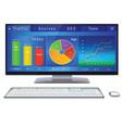 website analitycs on desktop pc screen vector image