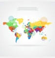 World map with elements of infographics vector image vector image