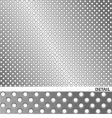 brushed metal surface with holes vector image vector image