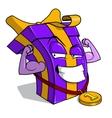 Present box character vector image