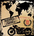 riding around the world vector image vector image
