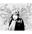 Girl Winter background vector image vector image