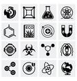 Science icon set vector image