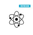 atom icon flat style isolated on white background vector image