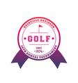 golf tournament emblem badge vector image