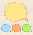 Hand-drawn comic style talk cloud Copy-space color vector image