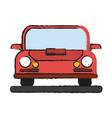 isolated red car design vector image