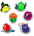 Monsters and Halloween vector image