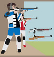 shooting athletic sport cartoon set vector image