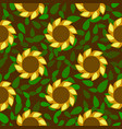 spring colored flower seamless pattern vector image
