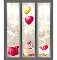 Wedding vertical banners vector image