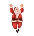 Full length portrait of Santa jumping in delight vector image