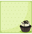 A special paper with dots and a cupcake vector image