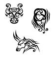 Taurus virgo and capricorn vector image vector image
