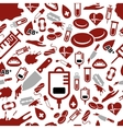 blood seamless pattern vector image