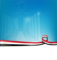 egypt flag on background vector image vector image