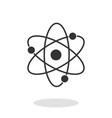 atom icon in trendy flat style isolated on white vector image
