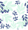 botanical seamless pattern of abstract blue green vector image