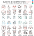 building constructions color line outline vector image