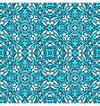 Damask blue pattern vector image