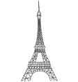 doodle Eiffel tower vector image