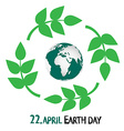 Earth Day - 22 April vector image