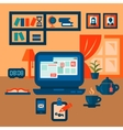 flat concept of business workspace vector image